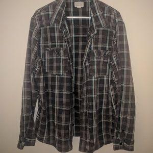 Converse Button Up Flannel T Shirt